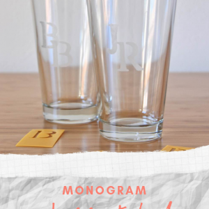 monogram glass etched drinkware tutorial pop shop america