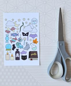 stickers inside the crystal ball halloween card and sticker pack pop shop america