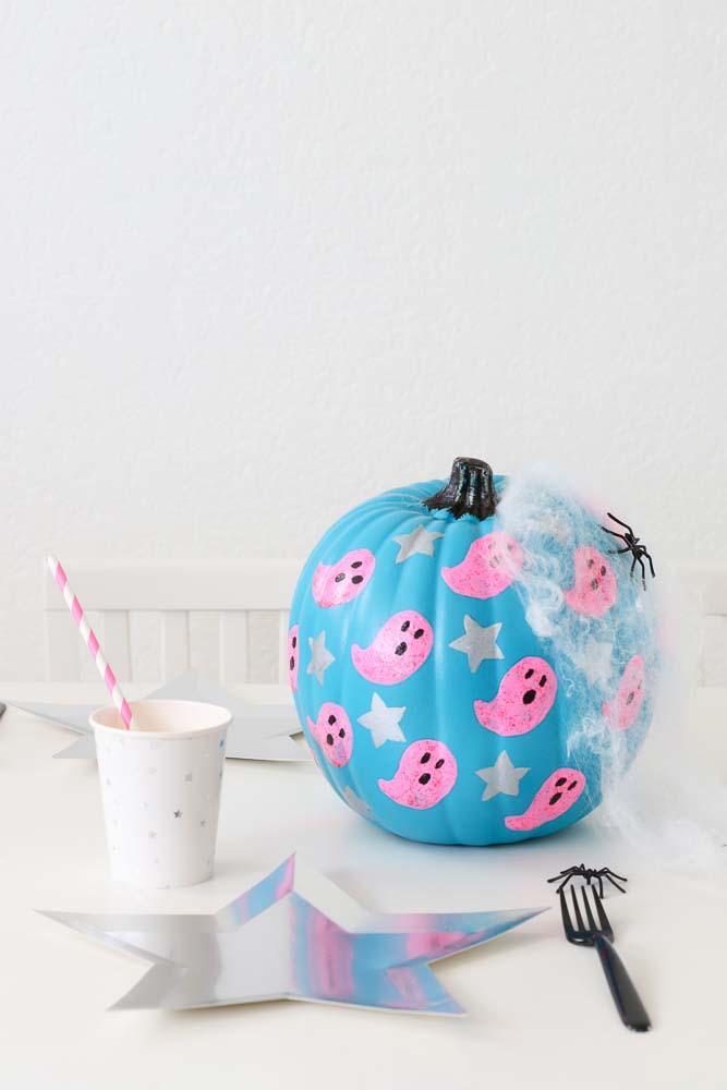 twinkle twinkle little party ghost painted pumpkins