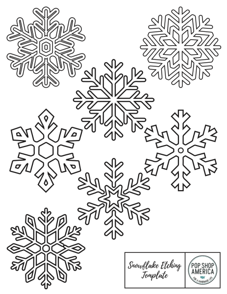 Snowflake Wood Burning Template Pop Shop America_small