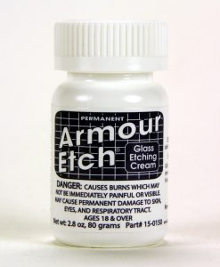 armour etch 2.8 oz glass etching cream