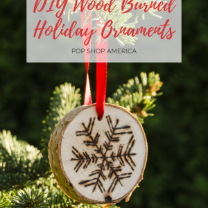 diy wood burned holiday ornaments
