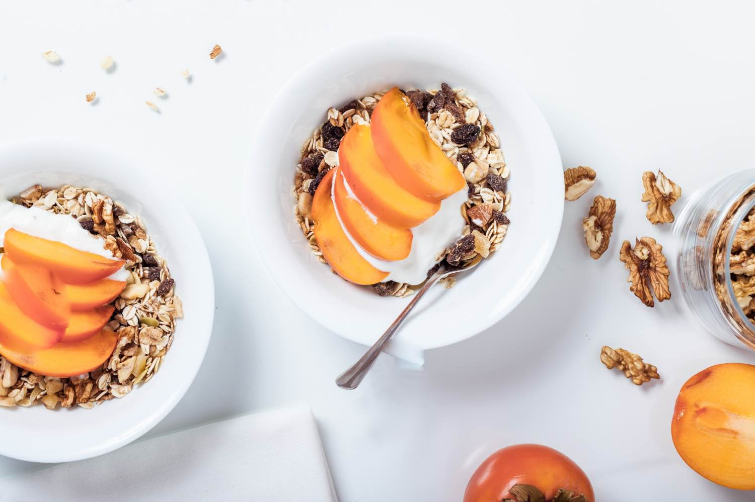 finished recipe how to make peaches and cream overnight oats