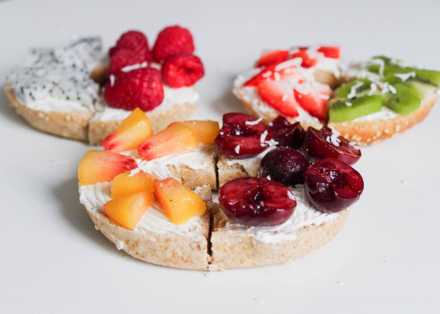 fruit topped bagel recipe easy and homemade pop shop america