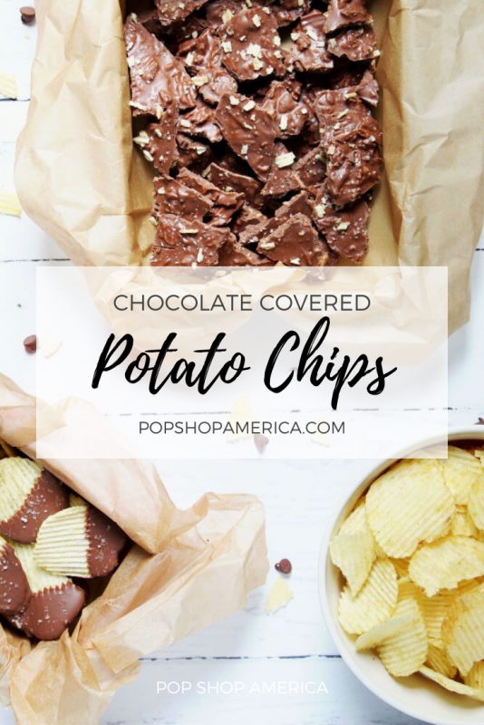 how to make chocolate covered potato chips recipe