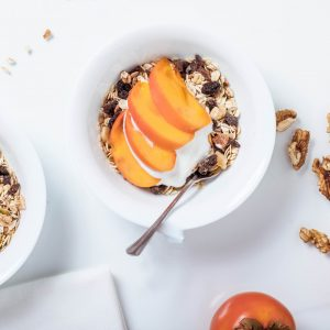peaches and cream overnight oats recipe square
