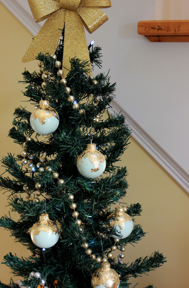 DIY Gold Lead Ornaments