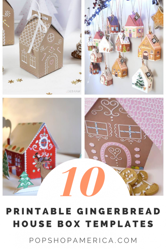 The 10 Best Gingerbread House Treat Box Printables Pop Shop America