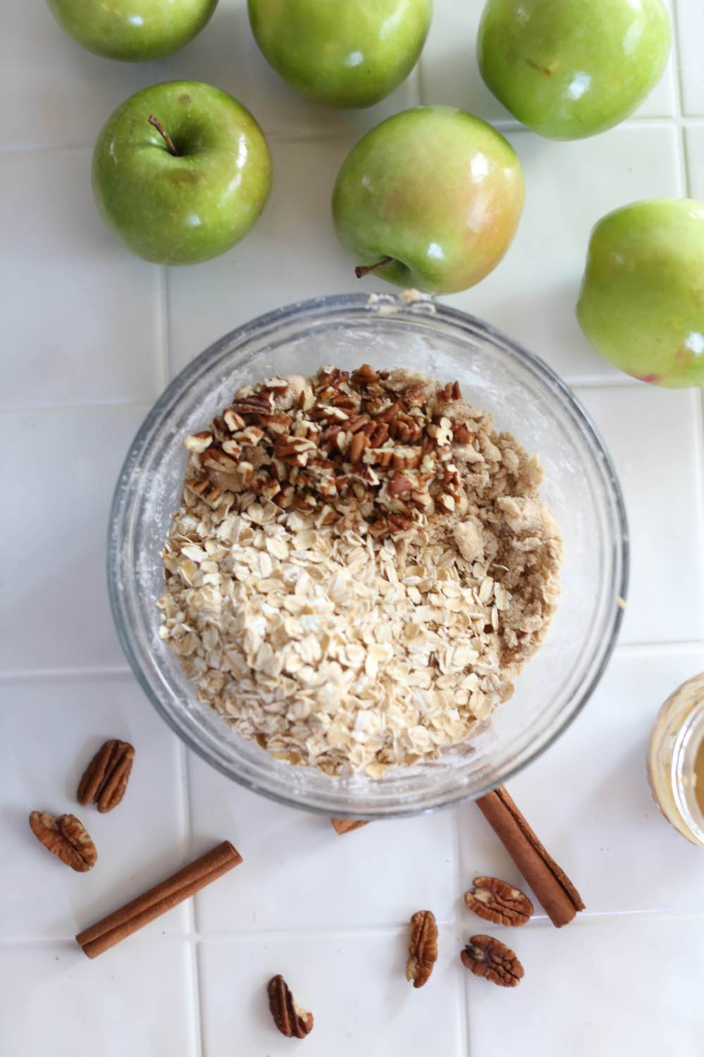 add oats and pecans to the crisp topping pop shop america
