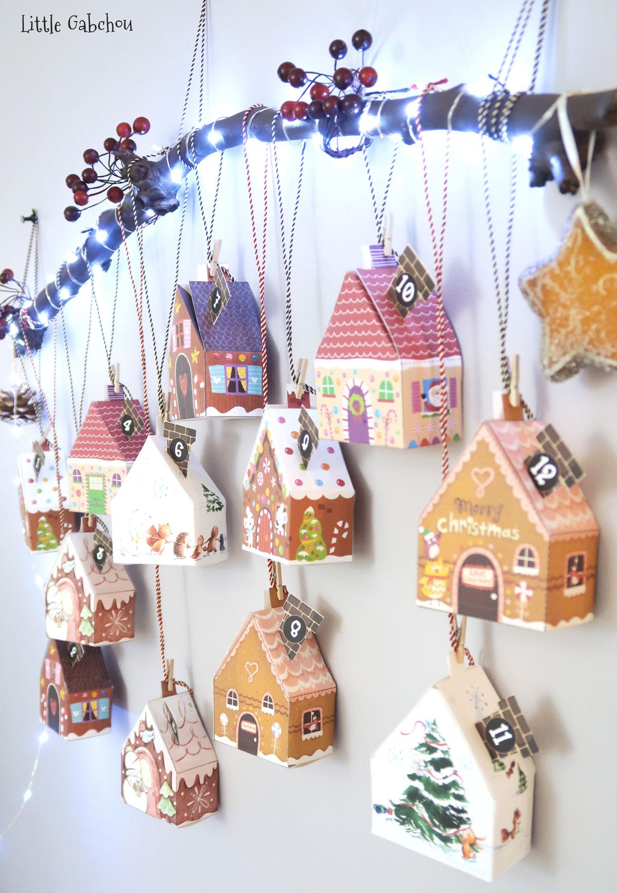 advent calendar gingerbread houses diy little gabchou