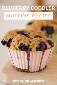 blueberry cobbler muffins recipe pop shop america