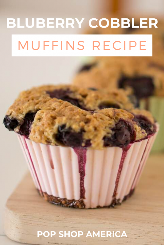 blueberry cobbler muffins recipe pop shop america