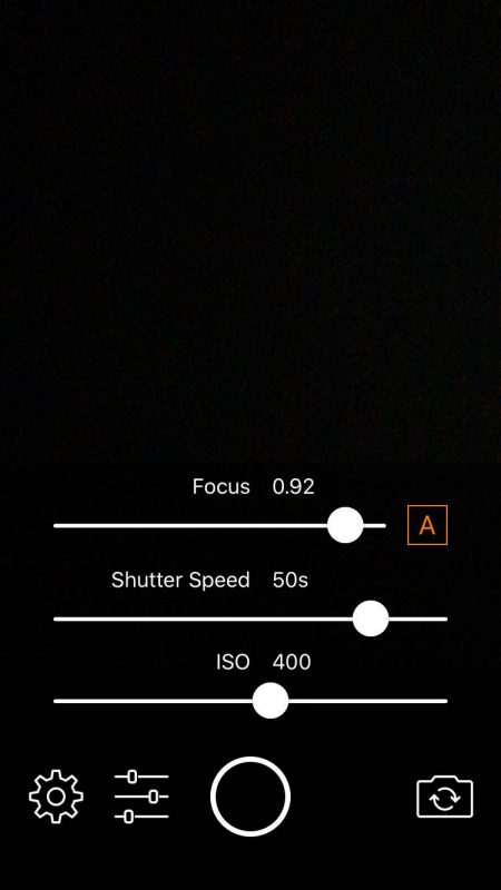 camera settings for an iphone longexpo app