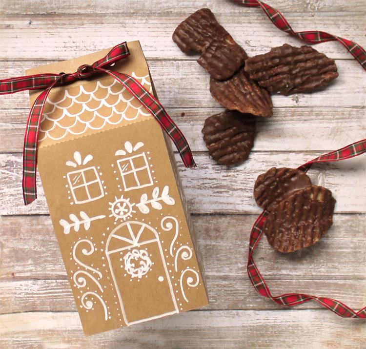 christmas goodie box free cut file and printable
