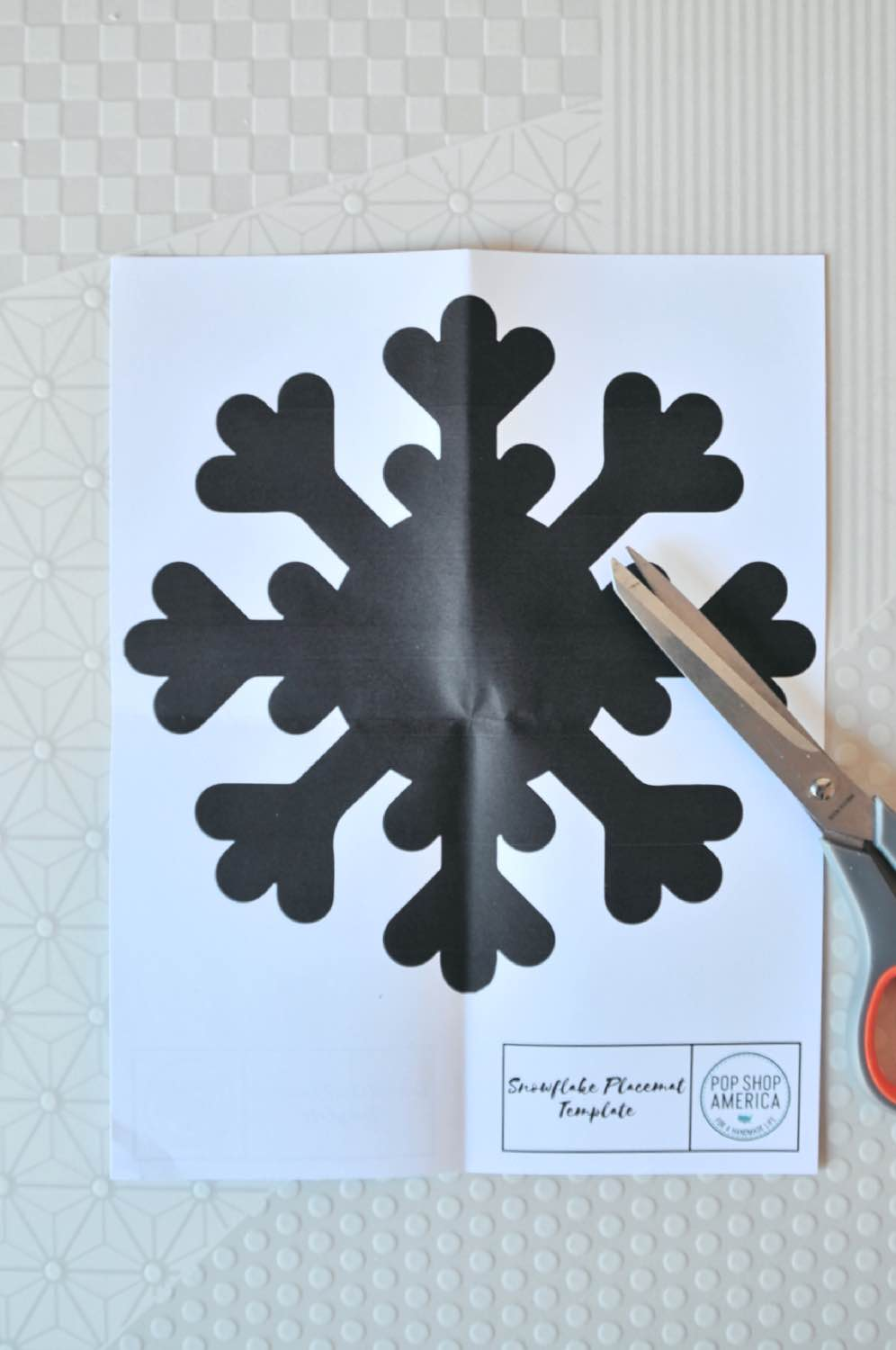 cut out the snowflake placemat template diy pop shop america