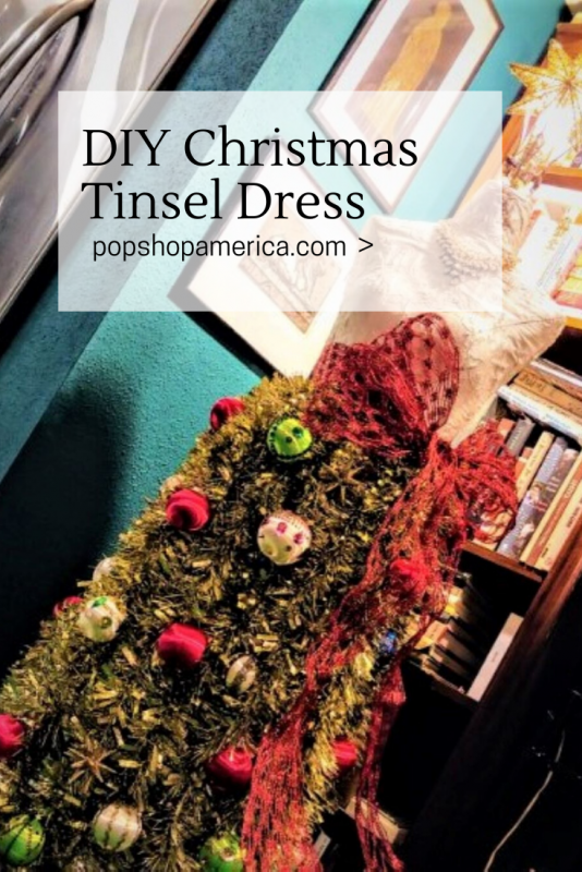 diy christmas tree tinsel dress pop shop america