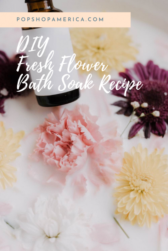 diy fresh flower bath soak recipe