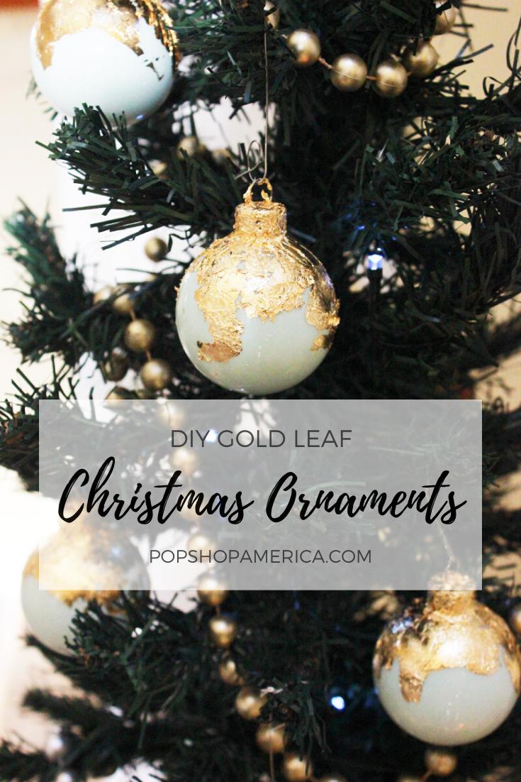 Diy Gold Leaf Christmas Ornaments