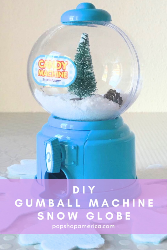 diy gumball machine snow globe craft tutorial