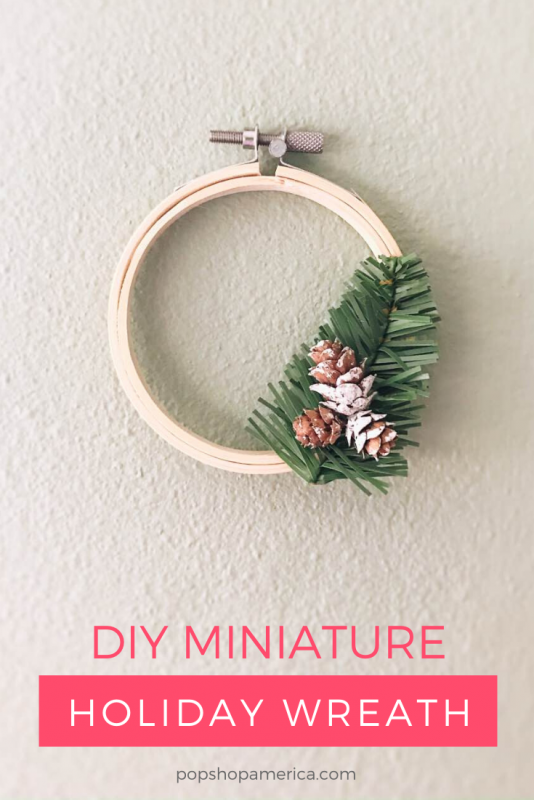 diy mini holiday wreath tutorial craft in style by pop shop america
