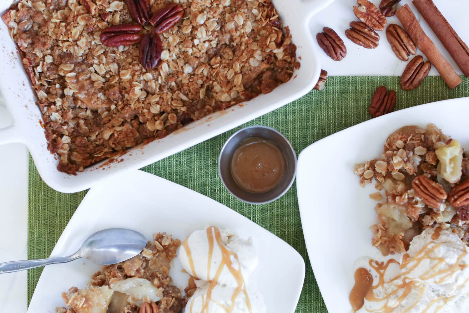 finished caramel apple crisp recipe pop shop america