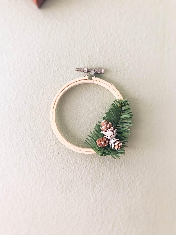 finished mini holiday wreath diy pop shop america