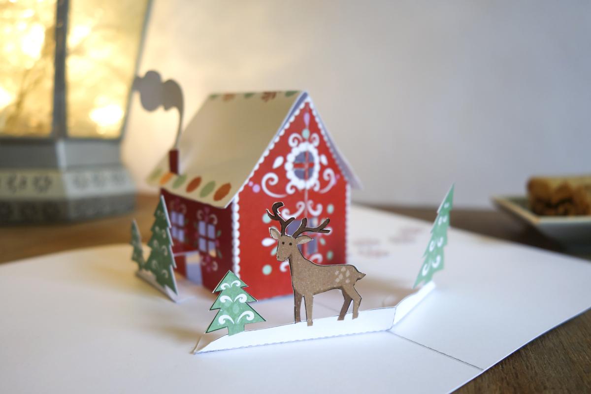 free gingerbread card by faltmanufaktur blog