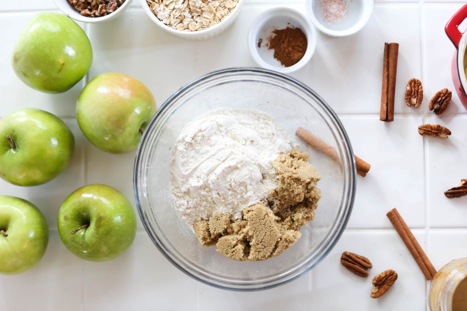 mixing the apple crisp topping recipe pop shop america