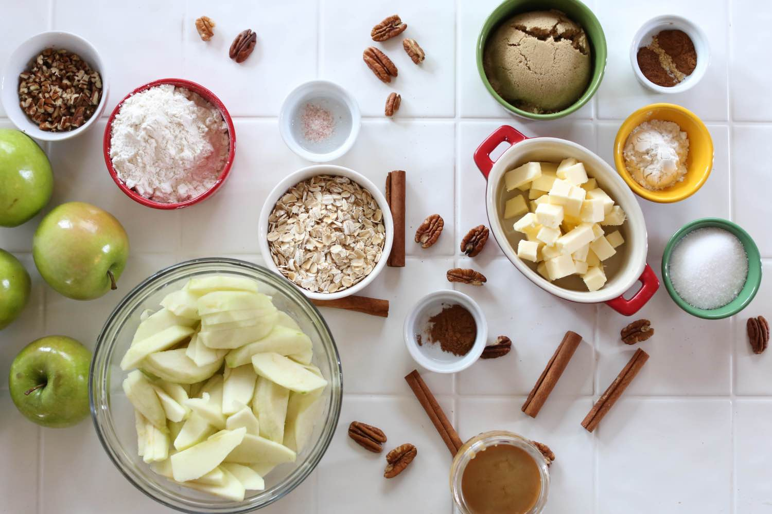 supplies to make a caramel apple crisp recipe