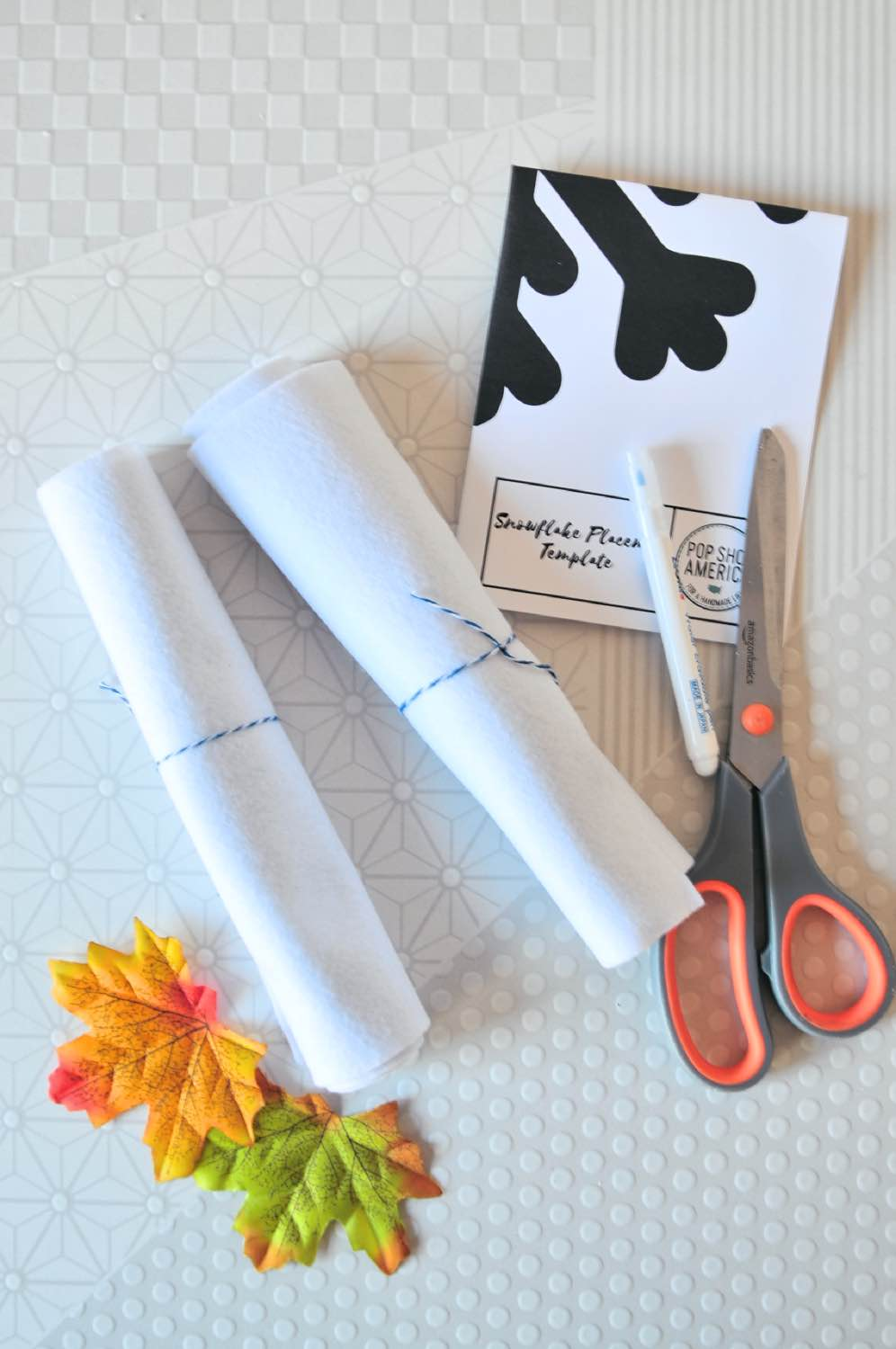 supplies to make a snowflake placemat pop shop america