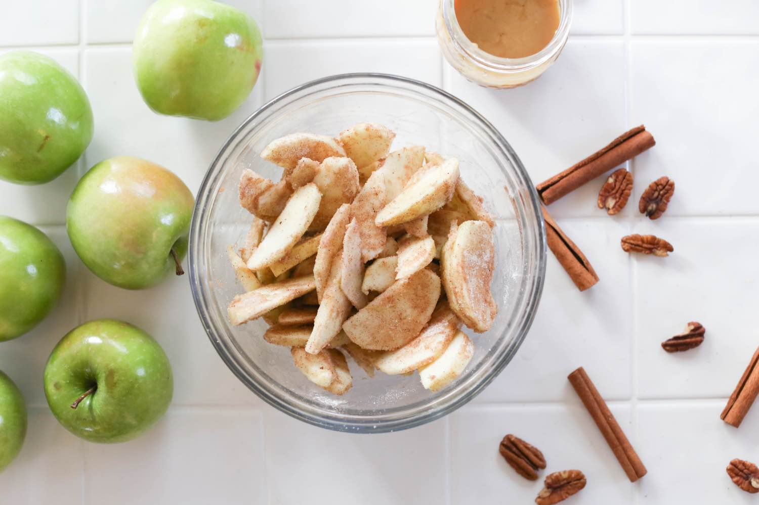 toss the apples in cinnamon and sugar apple crisp recipe