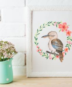 Australian-Watercolor-Animals-and-Wreaths-kookaburra