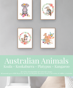 Australian-Watercolor-Animals-and-Wreaths-ver2