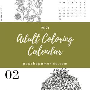 adult coloring calendar with terrariums pop shop america