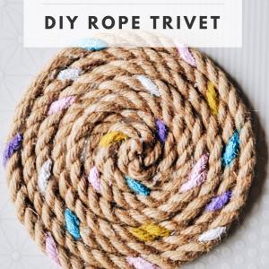 candy painted rope trivet diy pop shop america