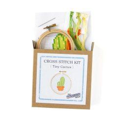 cross stitch kit with cactus diy pop shop america