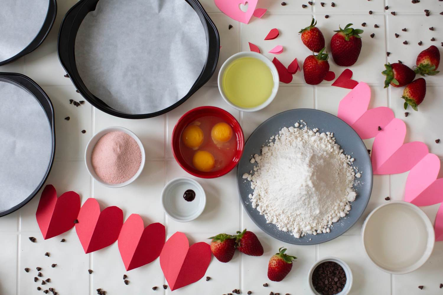 ingredients for a layered strawberry cake pop shop america