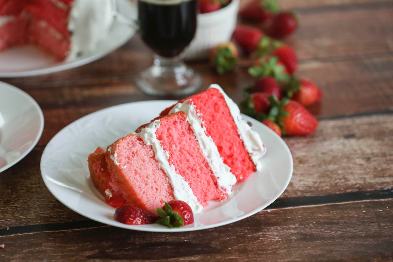 pink ombre cake slice close up pop shop america