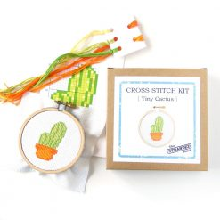 small cactus cross stitch craft supplies gift idea pop shop america