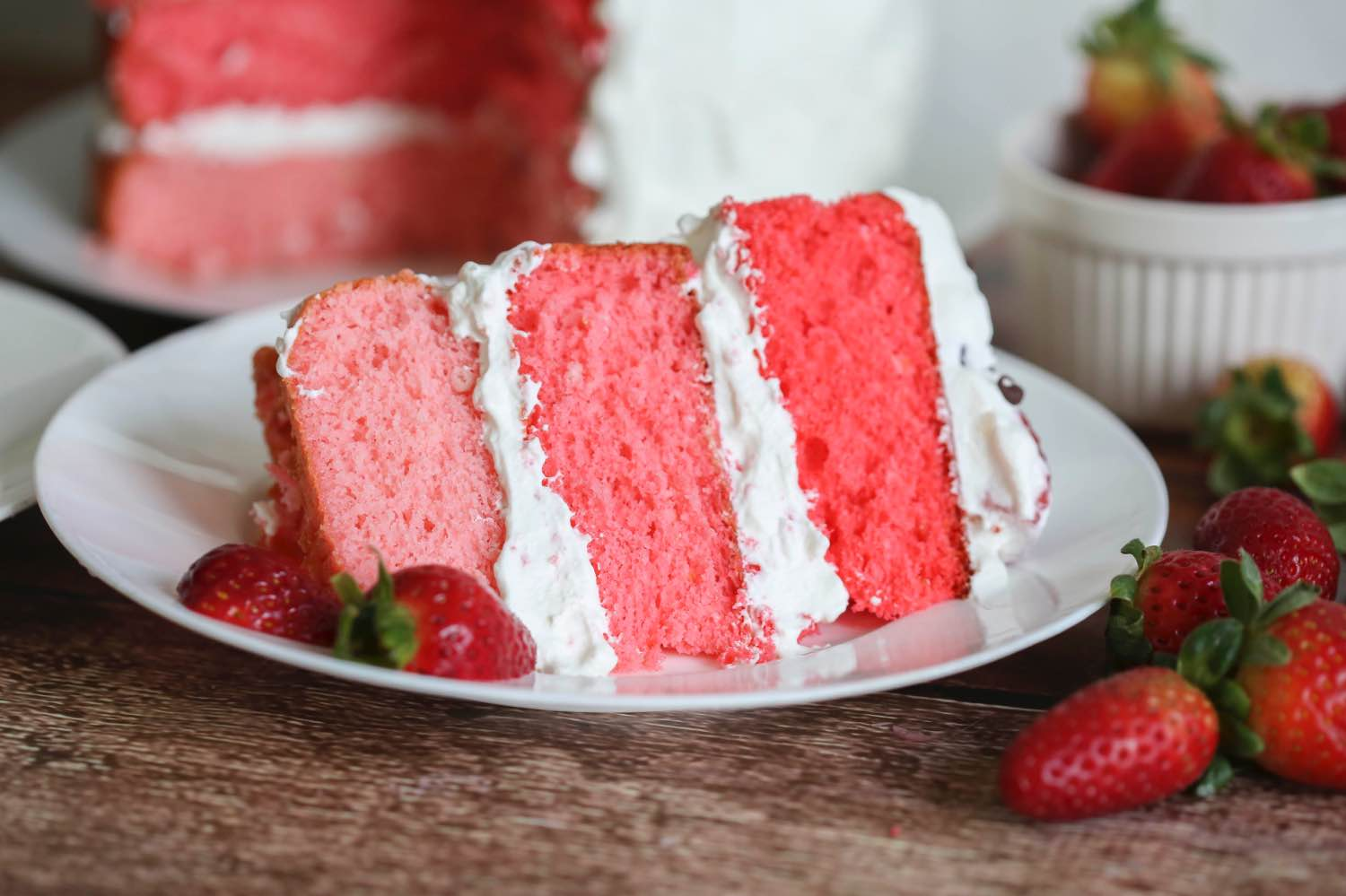 strawberry cake slice recipe close up pop shop america