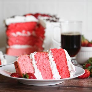 strawberry cake with whipped cream frosting recipe square