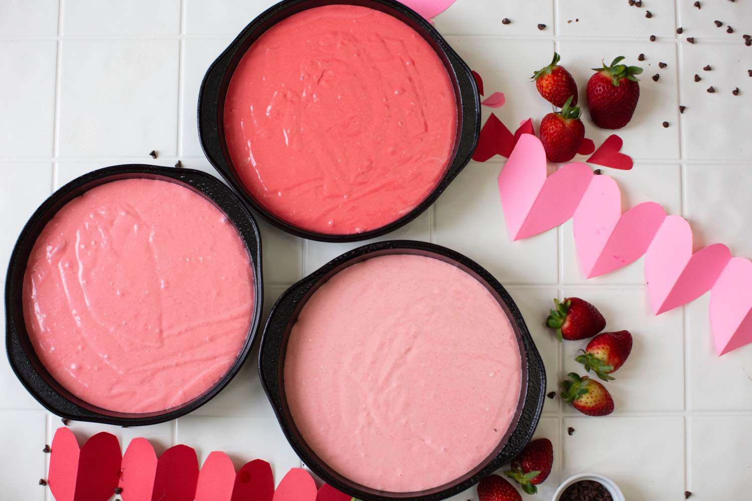 strawberry ombre cake inside 3 round 9 inch tins pop shop america