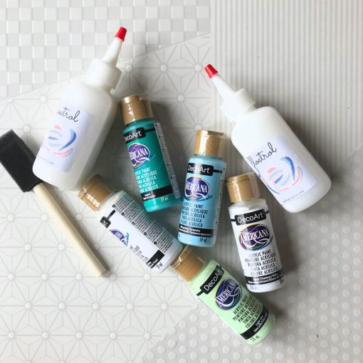 turquoise surf blue floetrol and acrylic paint pouring pack