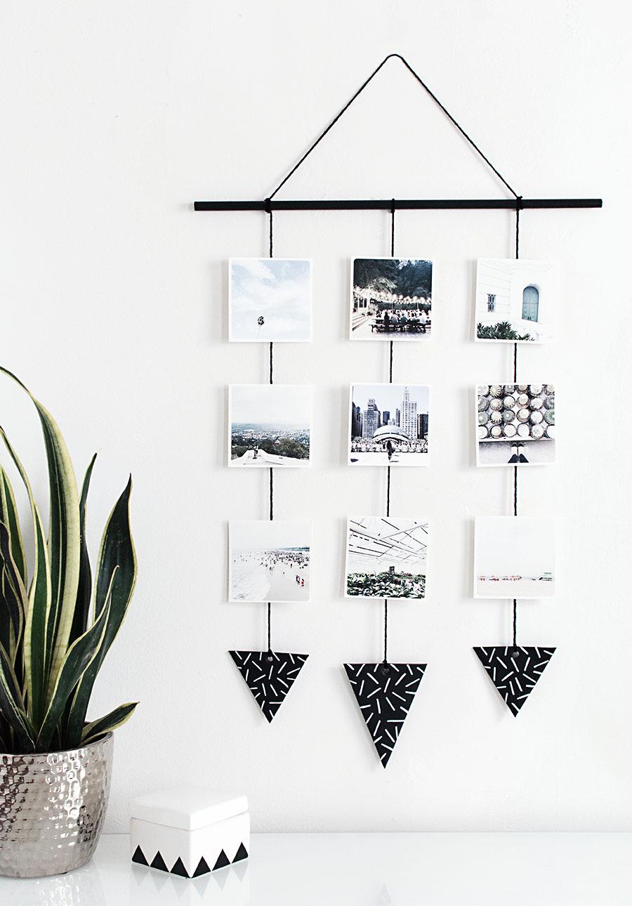 DIY-Photo-wall-hanging homey oh my