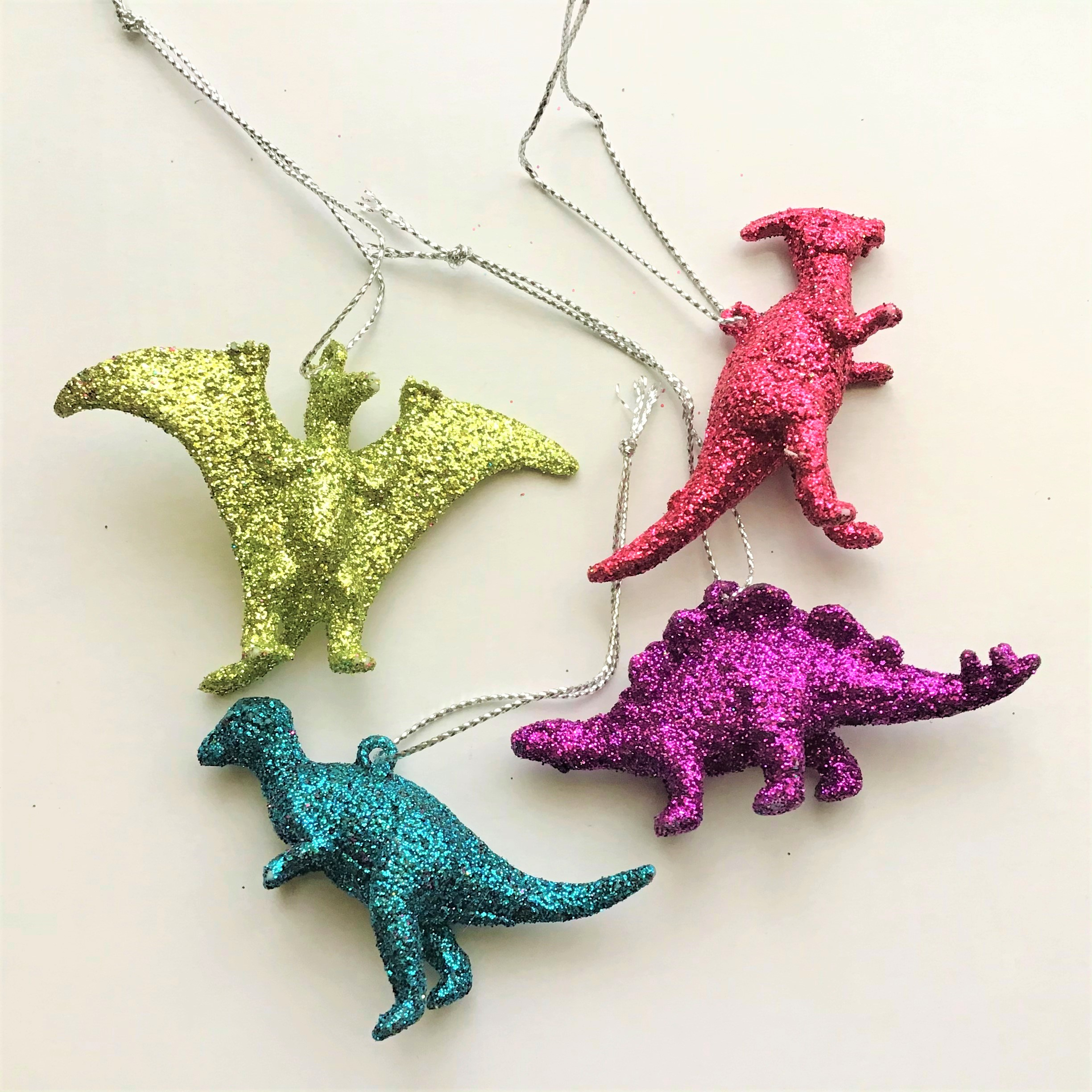 Glitter Dinosaur Earrings DIY - Variety