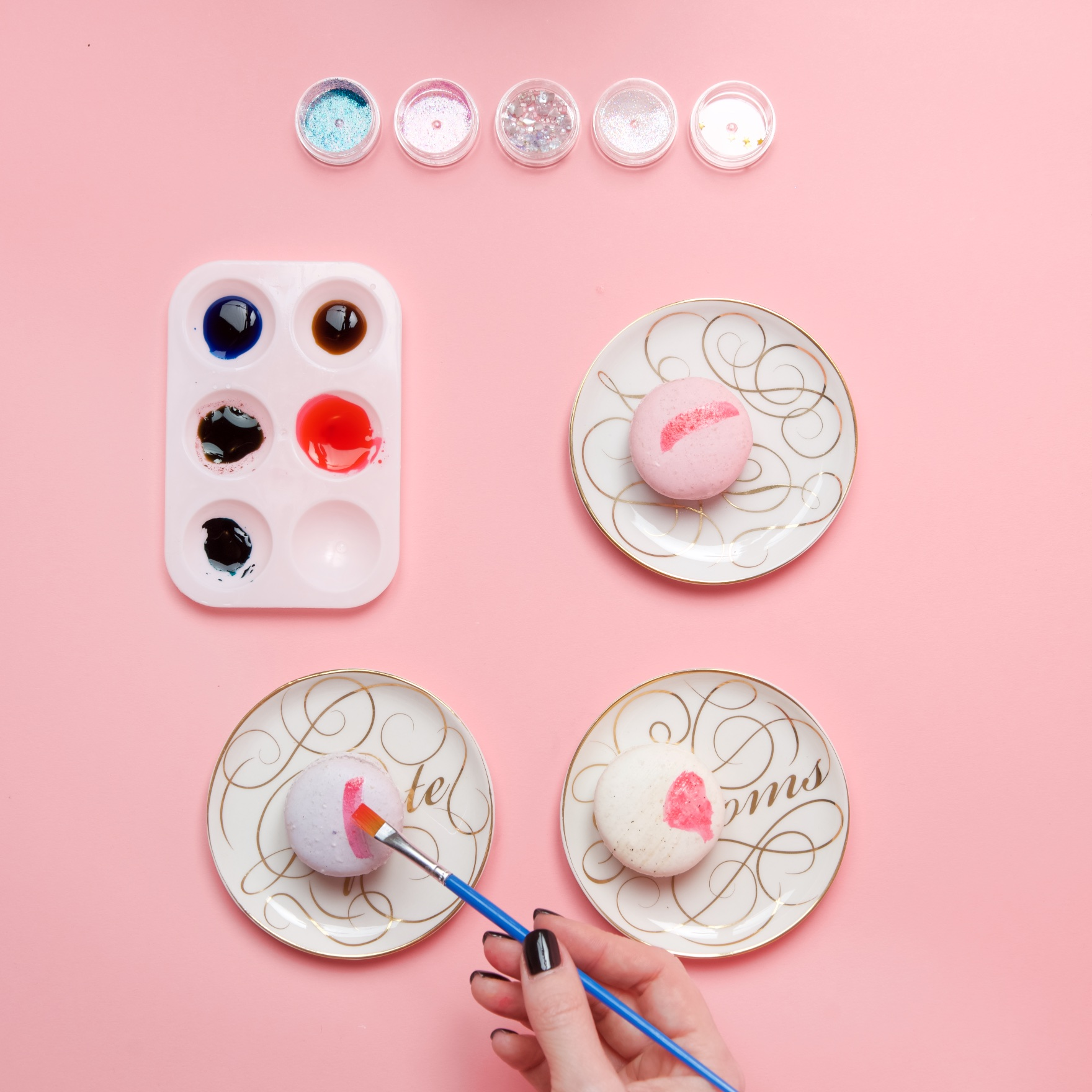 add layers of color diy painted macarons