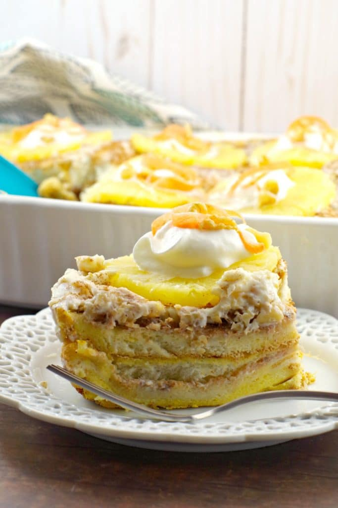 carrot cake french toast casserole