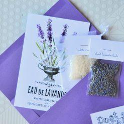 close up of mini lavender sachet craft kit pop shop america