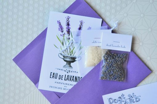 close up of mini lavender sachet craft kit pop shop america