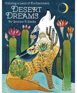 desert dreams adult coloring book